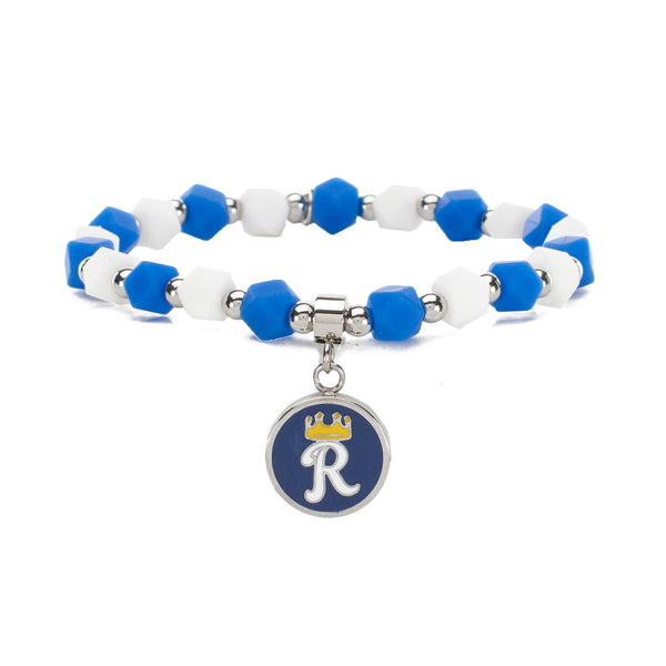 MLB Hexagon Beaded - Kansas City Royals on Silver