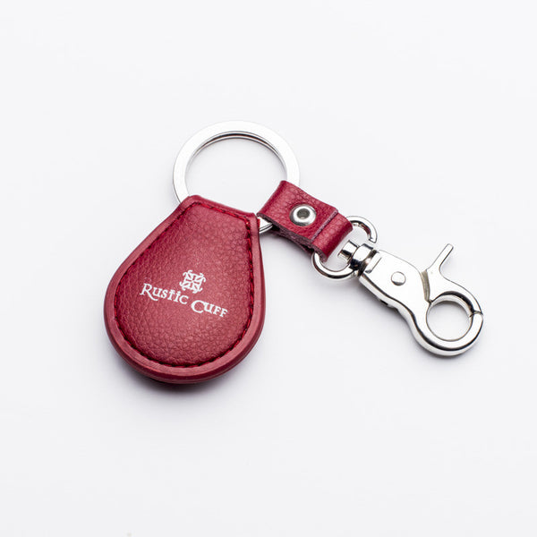 RC Leather Keychain Red