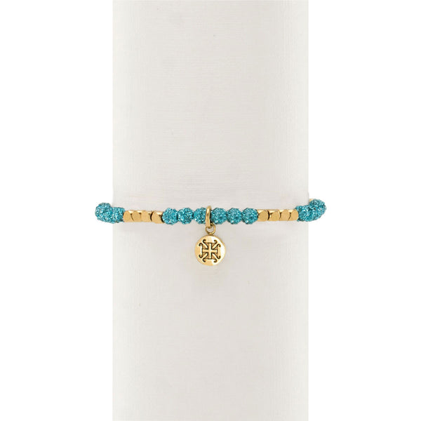 Roxie Light Turquoise with Gold