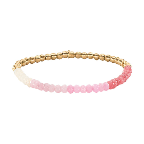 Lyla Ombre - Light Pink with Gold