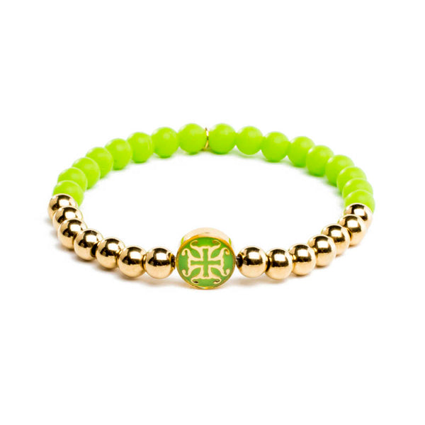 Mini Melanie Neon Green with Gold
