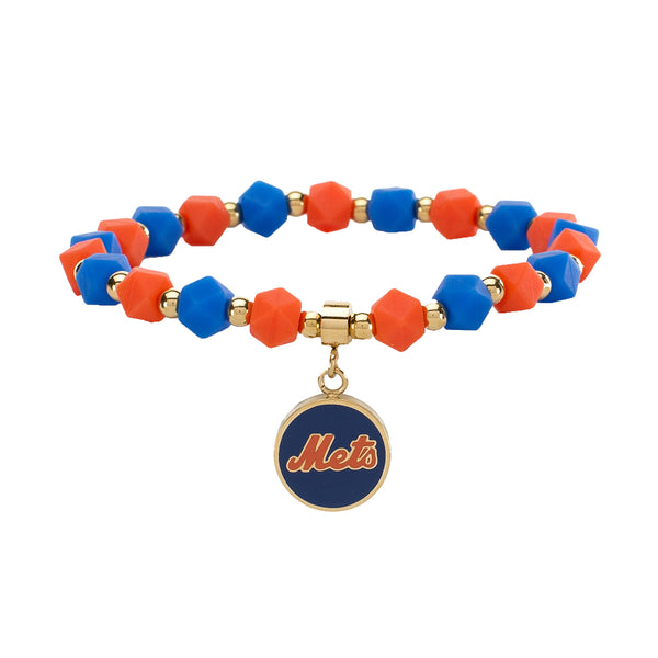 MLB Hexagon Beaded - New York Mets on Gold