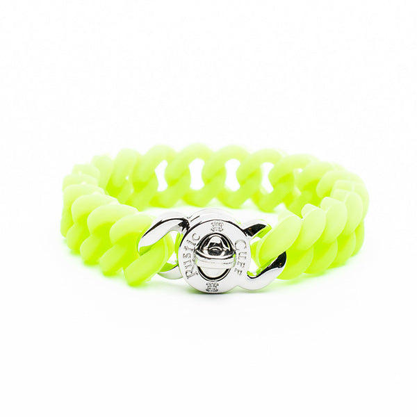 Madison Neon Green with Silver