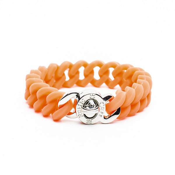 Madison Neon Orange with Silver