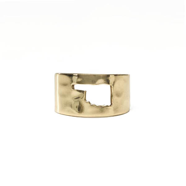RC Oklahoma Cut Out Ring - Gold