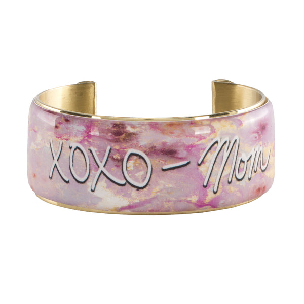 Custom Handwriting Art Deco 1.0 - Pink Marble with Gold Leaf