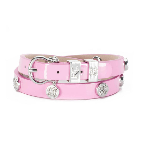 Macy Patent Double Wrap Pink - Silver