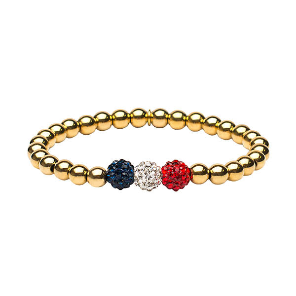 Gold Ireland Patriotic - Red, White & Blue
