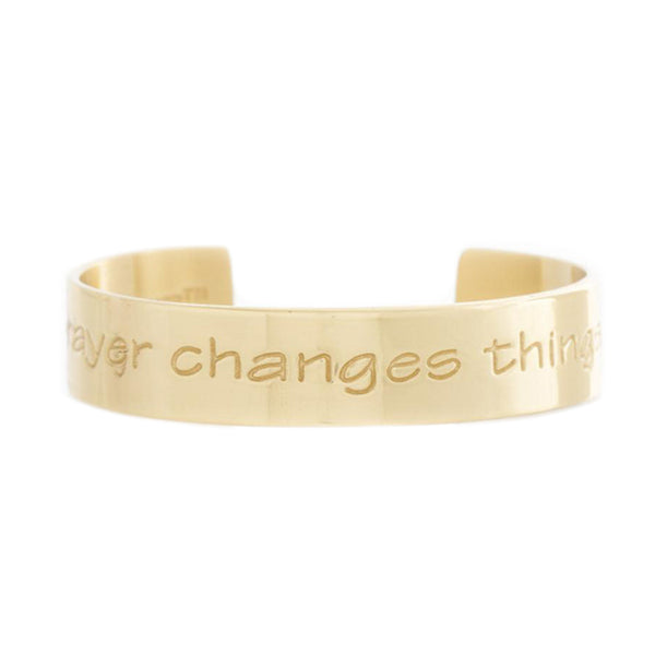 Engraved Quote .5 Prayer Changes Things - Gold