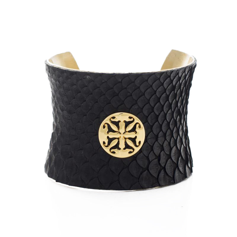 bab052b98cf Concave 2.0 Black Side Cut Python with Gold – Rustic Cuff
