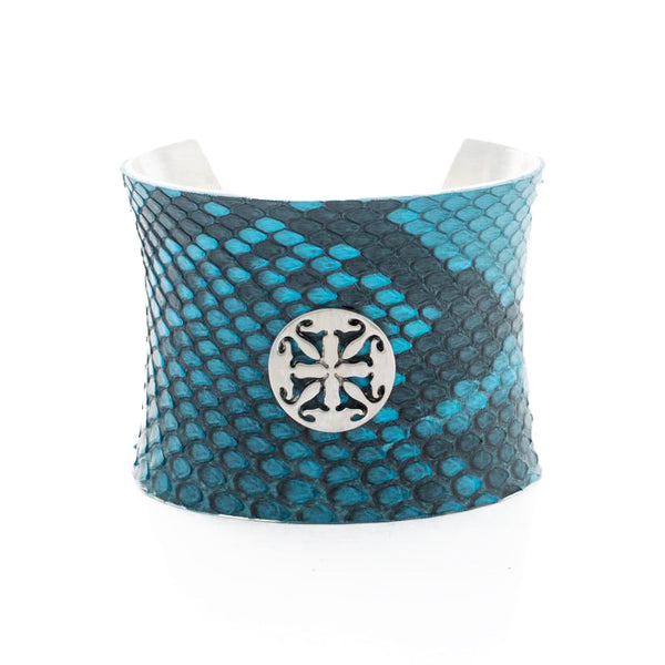 Concave 2.0 Turquoise Side Cut Python with Silver