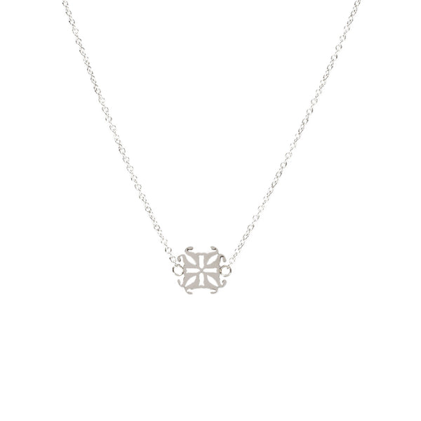 Jane RC Logo Necklace - Silver