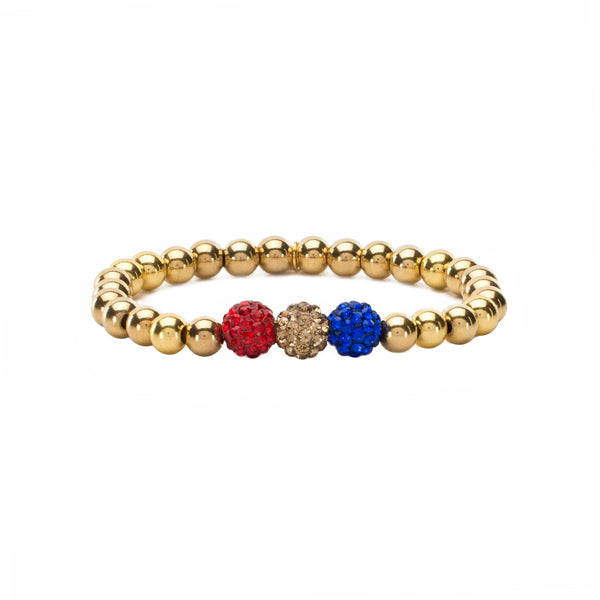 RC Girls Tri-Color Red Gold Royal Blue Ireland - Gold