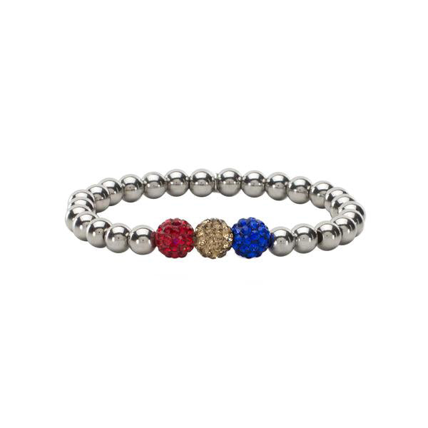 RC Girls Tri-Color Red Gold Royal Blue Ireland - Silver