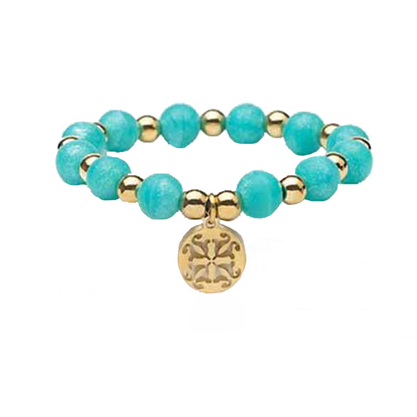 RC Girls Erin Pearlized Turquoise with Gold