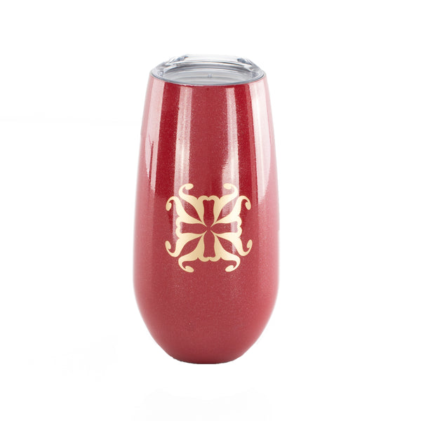 RC Champagne Flute Red with Gold