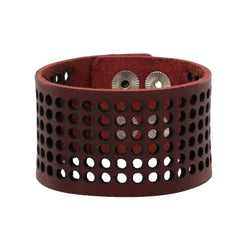 Dottie 1.5 Leather Snap Cuff - Redwood