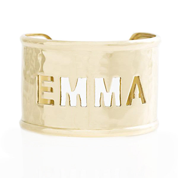 Rimmed Cut Out 1.5 Name Gold