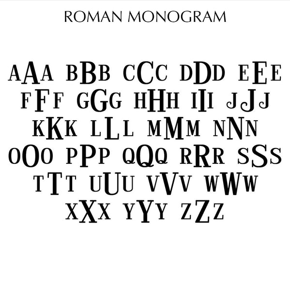 Custom Monogram Brandi White - Silver