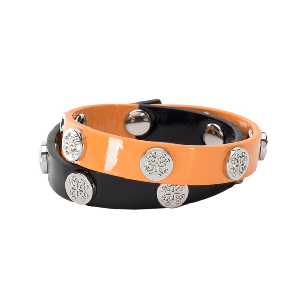 Meagen Double Game Day - Orange/Black - Silver