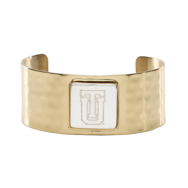 Monogram Square Gold Cuff/ Silver Square - TU Stacked