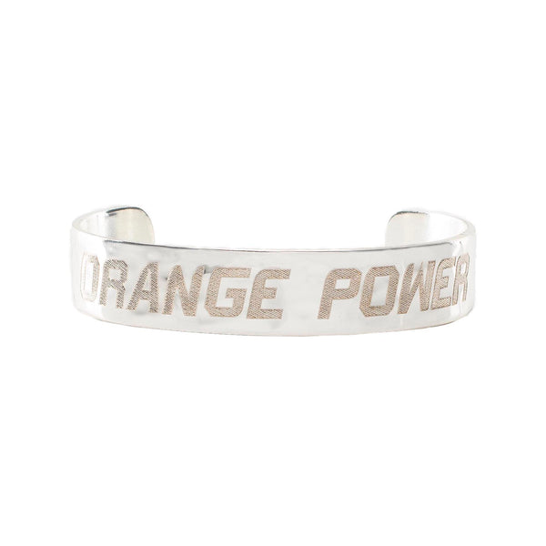.5 Engraved Orange Power - Silver