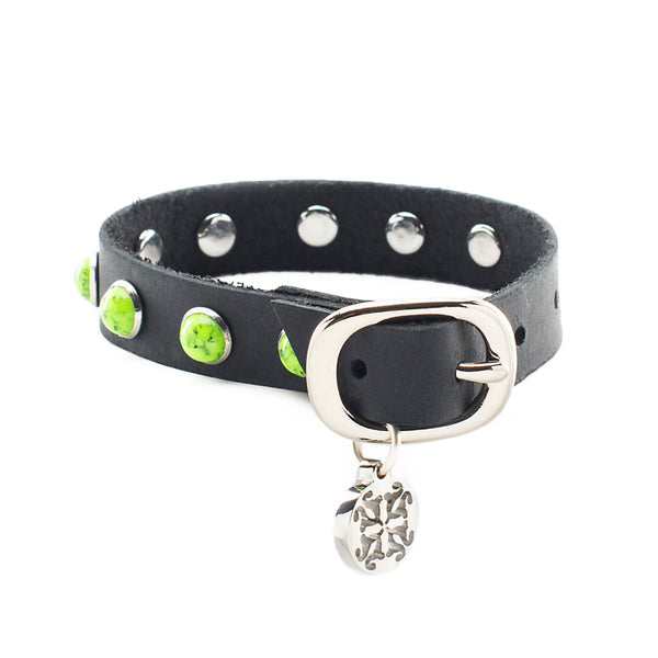 Christianne Black with Lime Green