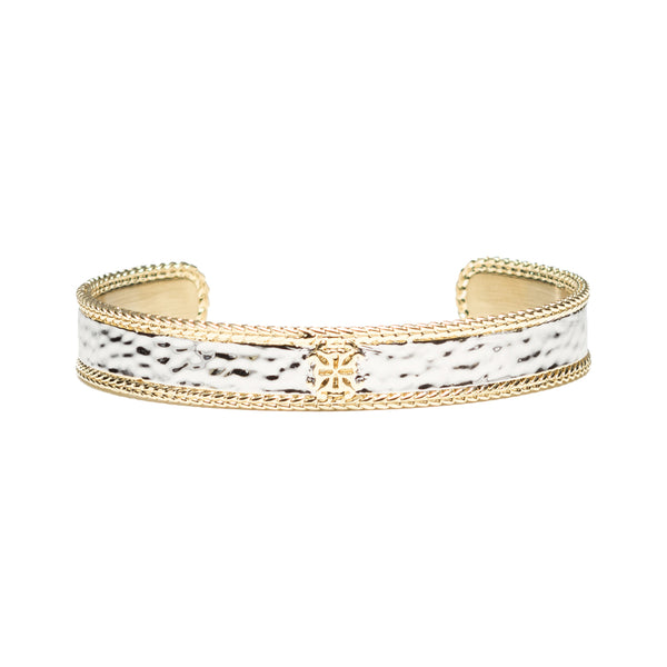 Sylvia - Silver with Gold Braided Edge