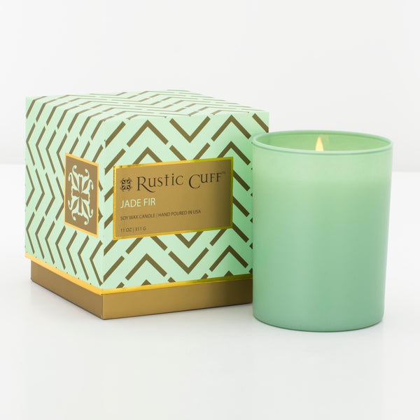 Candle Jade Fir - Mint Green