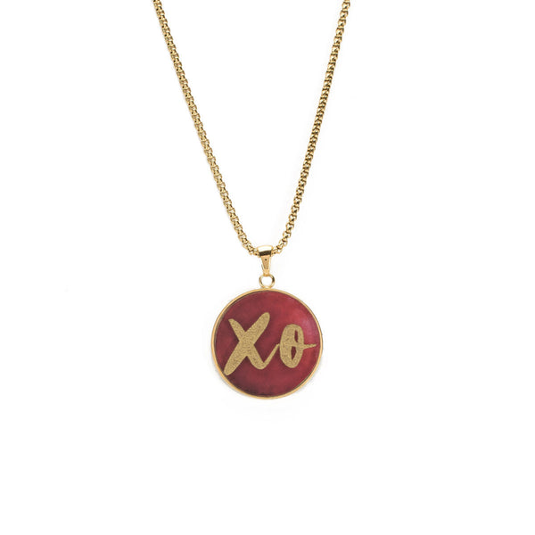 Jackie Necklace - Gold with XO