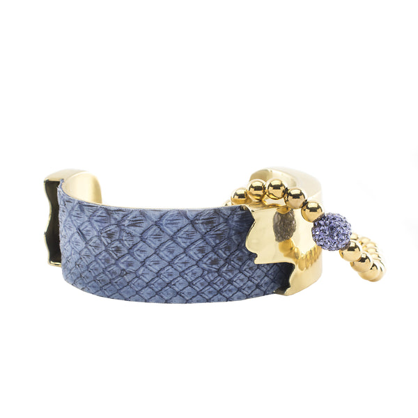 Suede Python Duo - Periwinkle with Gold