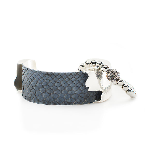 Suede Python Duo - Grey with Silver