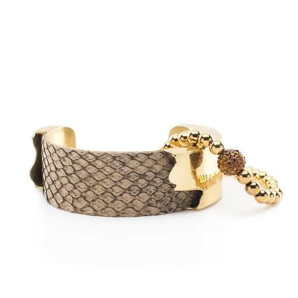 Suede Python Duo - Sandcastle with Gold