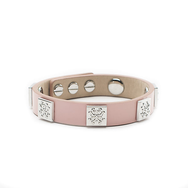 Meagen Single Patent Light Pink with Silver