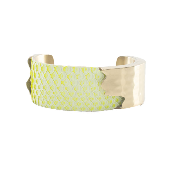 "Whitewash Neon Python - 1.0"" Yellow with Gold Dallas"