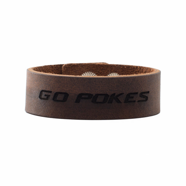 Leather Snap Cuff .75 - Go Pokes