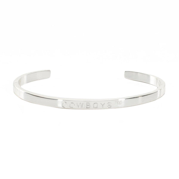 "Mini Quote Cuff ""COWBOYS"" - Silver"