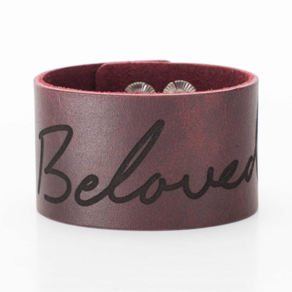 Leather Snap Cuff 1.5 - Custom Handwriting/ Image