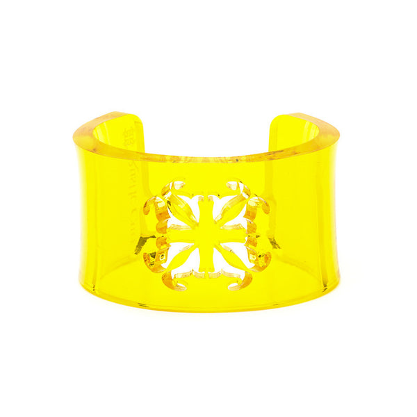 Alisha - Translucent Yellow Lucite - Ships in 10 Days