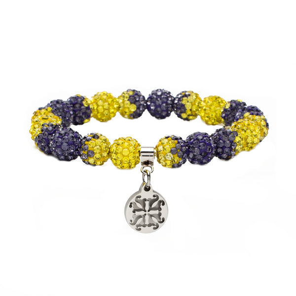 Emerson Game Day Purple/Yellow - Silver