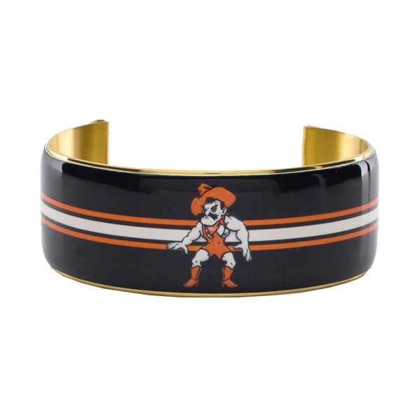 Art Deco 1.0 Orange/Black Striped Pistol Pete Wrestler - Gold