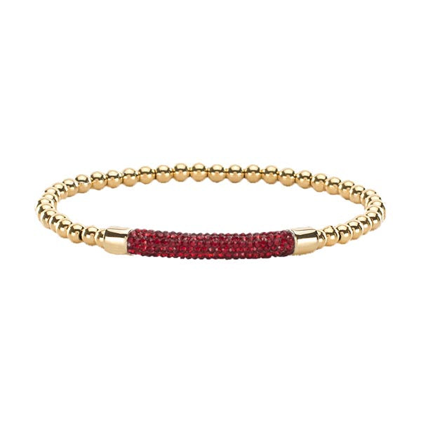 Gemma Mini Gold with Gold - Red Pavé