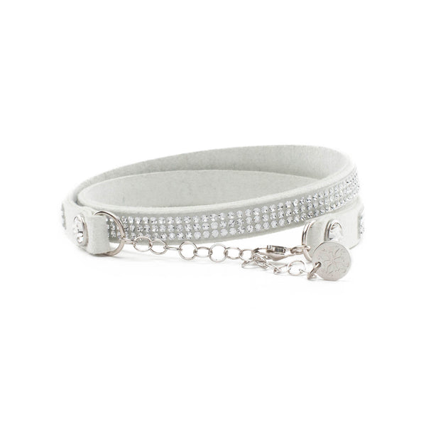 Leah Choker White with White Crystals