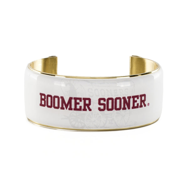 Art Deco 1.0 BOOMER SOONER Schooner White with Crimson