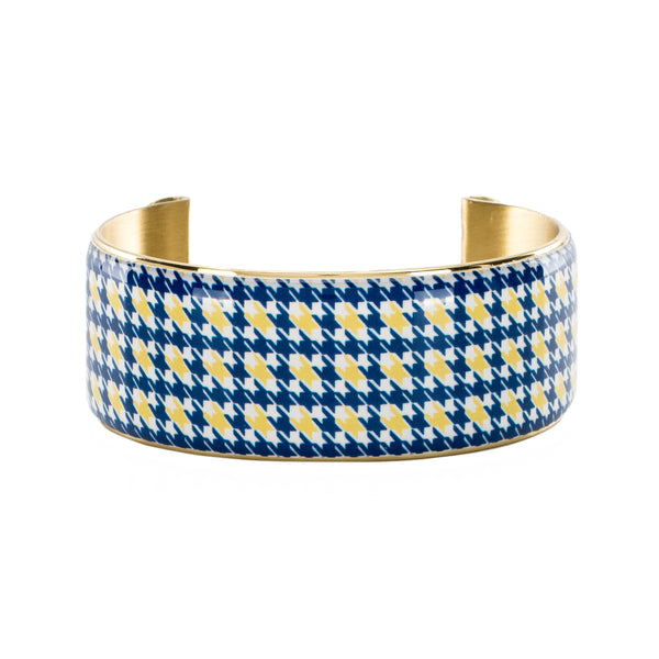 Art Deco 1.0 Collegiate Royal Blue and Old Gold Houndstooth
