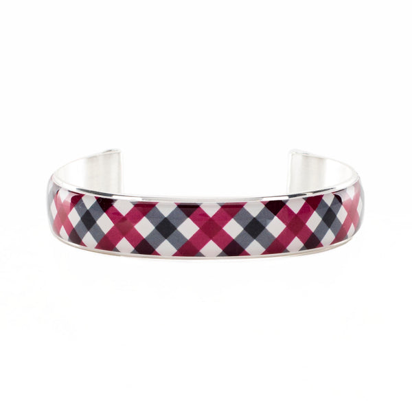 Art Deco .5 Collegiate Crimson and Black Plaid