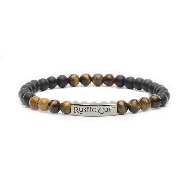 RC Men's John - Beaded Black Agate Tigers Eye