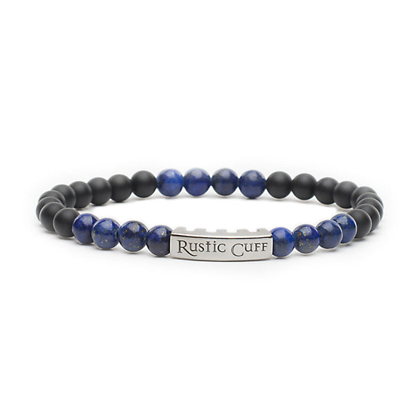 RC Men's John - Beaded Black Agate Lapis