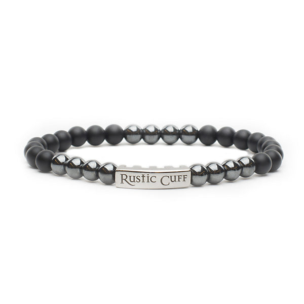 RC Men's John - Beaded Black Agate Hematite