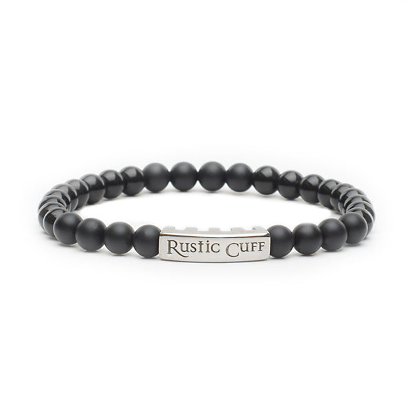 RC Men's John - Beaded Onyx Black Agate